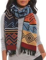Pendleton Peaceful Ones Fringed Wool Jacquard Muffler