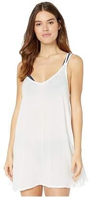 Roxy Chill Day Cover-Up Dress (Bright White) Women's Swimwear