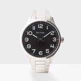 Paul Smith Men's Black And Silver 'Tempo' Watch
