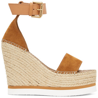 See by Chloe Tan Suede Glyn Platform Sandals