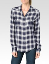 Paige Mya Shirt - Dark Ink Blue/White/Syrah