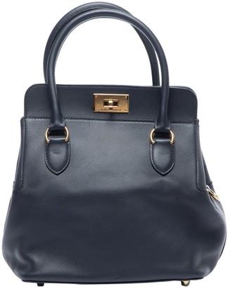Hermes Toolbox Navy Leather Handbags