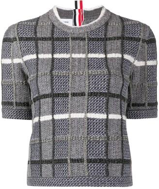 Thom Browne Check-Pattern Short-Sleeved Jumper