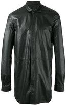 Rick Owens Walrus office shirt - men - Calf Leather/Cupro - 50