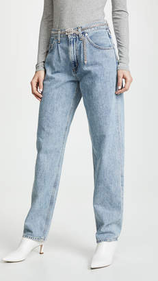 A Gold E AGOLDE Baggy Oversized Jeans with Pleats