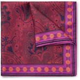 Etro Paisley-print Silk-twill Pocket Square - Fuchsia
