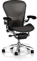 Herman Miller Classic Aeron Task Chair: Tilt Limiter w/Seat Angle Adj - PostureFit Support - Fully Adj Vinyl Arms - Standard Carpet Casters