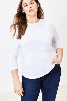 Oasis Womens Curve White Long Sleeve Top - White