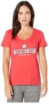 Champion College Wisconsin Badgers University V-Neck Tee (Scarlet 3) Women's T Shirt