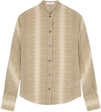 Equipment Pavotta Python-print Silk Shirt
