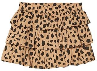 HUXBABY Animal Spot Frill Skirt (Little Kids/Big Kids) (Sand) Girl's Skirt