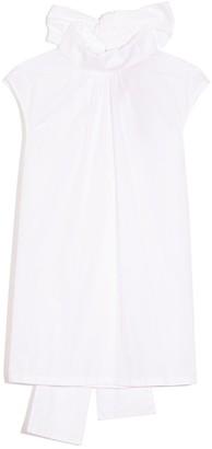 No.21 Sleeveless Turtleneck Top in White