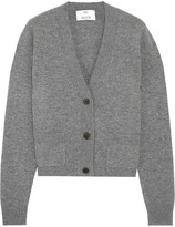 Allude Cropped Cashmere Cardigan - Dark gray