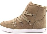 GUESS Womens Gotter Hight Top Lace Up Fashion Sneaker.