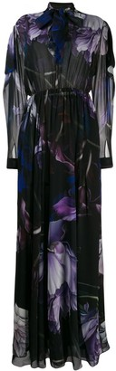 Roberto Cavalli Marchito print flared long dress