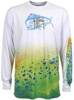 Guy Harvey - AFTCO Guy Harvey Mens Dorado Long Sleeve Performance Shirt