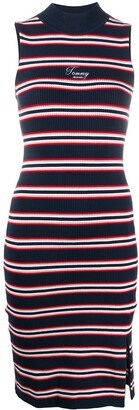 Tommy Jeans Ribbed-Knit Sleeveless Dress
