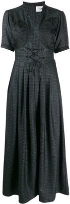 Quetsche Short-Sleeve Flared Dress