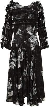 Preen by Thornton Bregazzi Ermin Devore Silk-satin Midi Dress