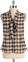 Tahari ARTHUR S. LEVINE Printed Tie-Neck Blouse