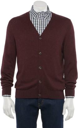 Croft & Barrow Men's Easy-Care Cardigan Sweater