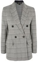Topshop Checked double breasted blazer