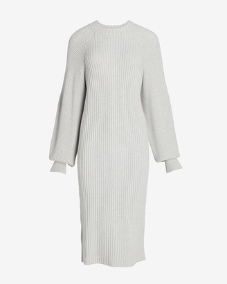 Express Balloon Sleeve Midi Sweater Dress