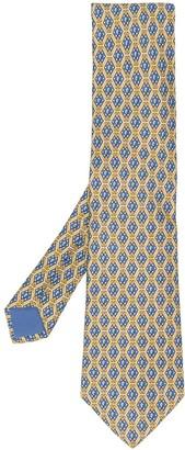 Hermes 2000's Pre-Owned Geometric Diamond Printed Tie