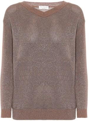 Brunello Cucinelli Metallic cotton-blend sweater