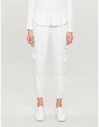 Bella Dahl Utility Cargo tapered high-rise woven trousers