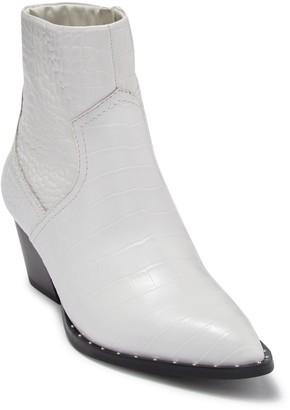 Aldo Agroacia Croc Embossed Leather Ankle Boot