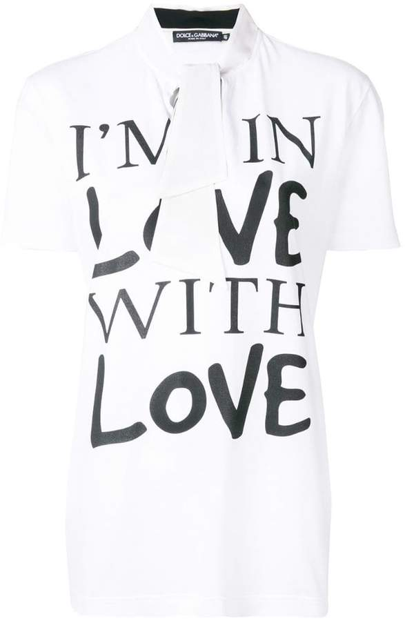 Dolce & Gabbana I'm In Love With Love T-shirt printed T-shirt
