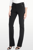 NYDJ Marilyn Straight In Ponte Knit With Leather Detail