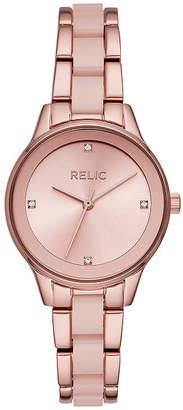 Fossil RELIC BY Relic By Tessa Womens Rose Goldtone Bracelet Watch-Zr34541