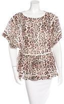 Zimmermann Crochet-Accented Cheetah Print Top w/ Tags