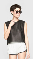 Band Of Outsiders Leather Runner Shorts