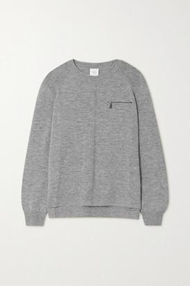 Bogner Gill Zip-detailed Melange Wool Sweater - Gray
