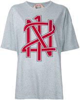 No.21 printed oversized T-shirt
