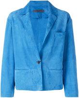 Simonetta Ravizza button up blazer - women - Suede - 40