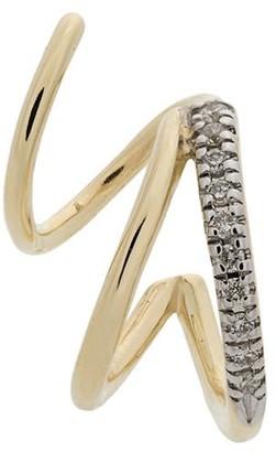 Maria Black 14kt yellow gold Fury diamond twirl earring