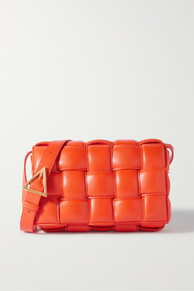 Bottega Veneta Cassette Intrecciato Quilted Leather Shoulder Bag - Orange