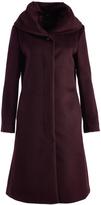 Cole Haan Wine Wool-Blend Trench Coat