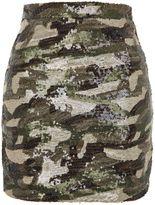 Topshop Sequin Camouflage Mini Skirt