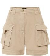 Balmain High-rise cotton cargo shorts