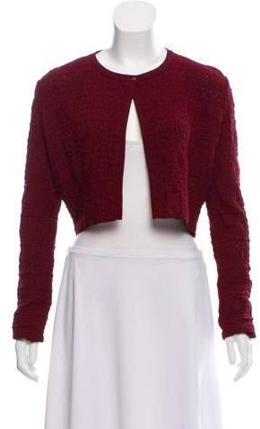 Alaia Crop Long Sleeve Cardigan