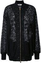 Stella McCartney lace effect bomber jacket - women - Cotton/Polyamide - 38