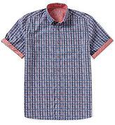 Visconti Plaid Short-Sleeve Woven Shirt