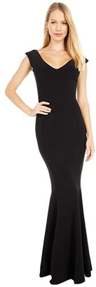 KAMALIKULTURE by Norma Kamali Grace Fishtail Gown (Black) Women's Clothing
