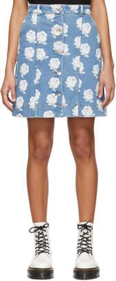 Kenzo Blue Roses Miniskirt