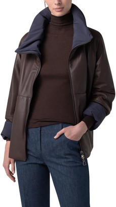 Akris Reversible Leather Puffer Jacket